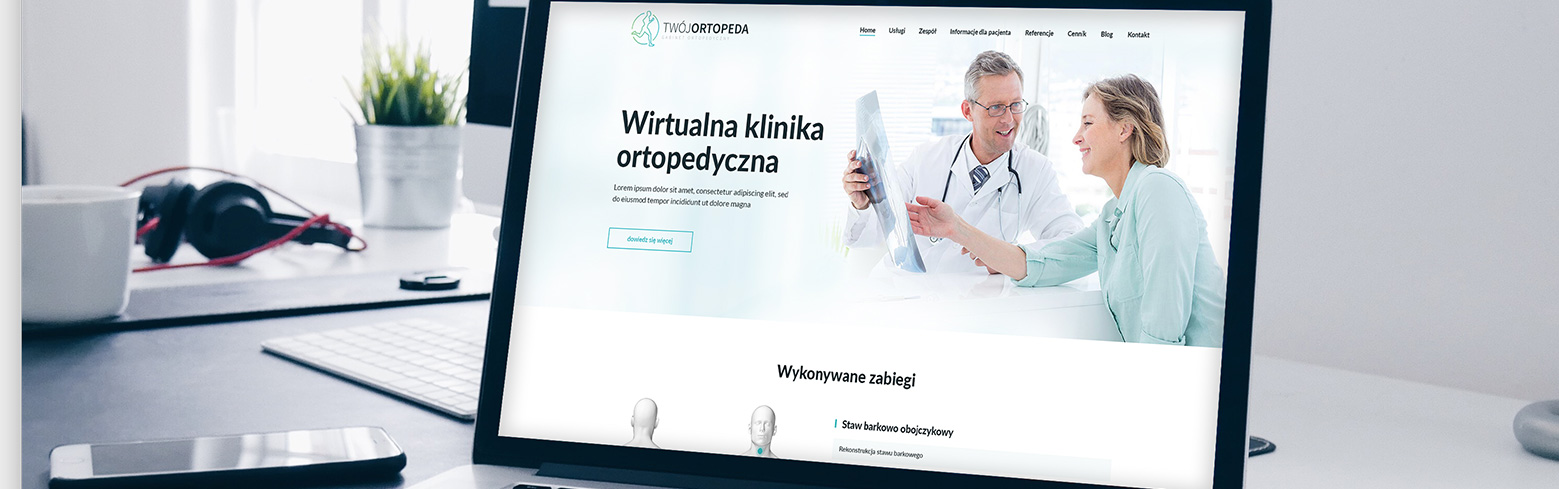 tworzenie stron internetowych projekt twoj-ortopeda by redo-interactive
